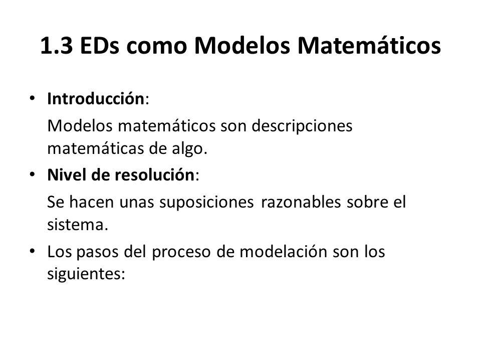 1.3 EDs como Modelos Matemáticos