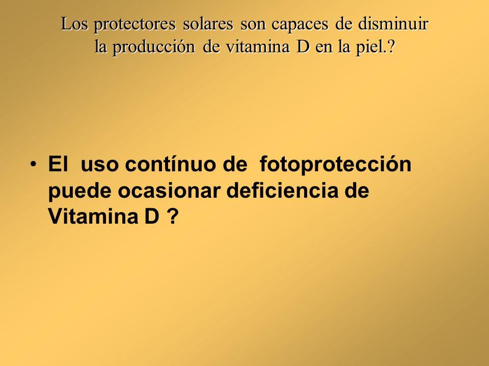 Los protectores solares son capaces de disminuir la producción de vitamina D en la piel.