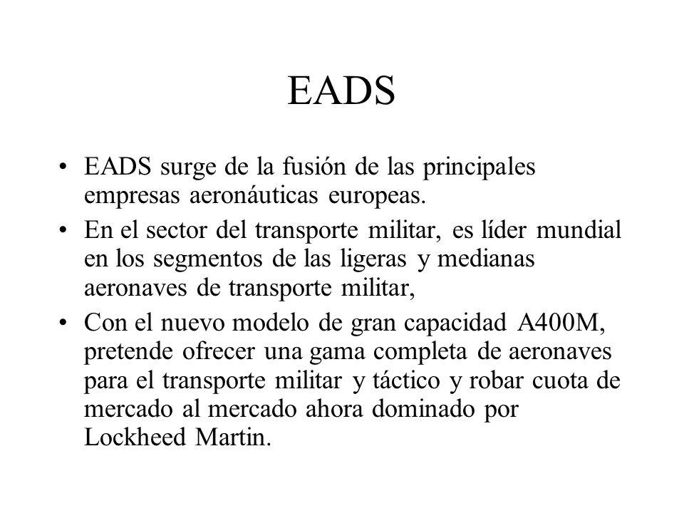 EADS EADS surge de la fusión de las principales empresas aeronáuticas europeas.