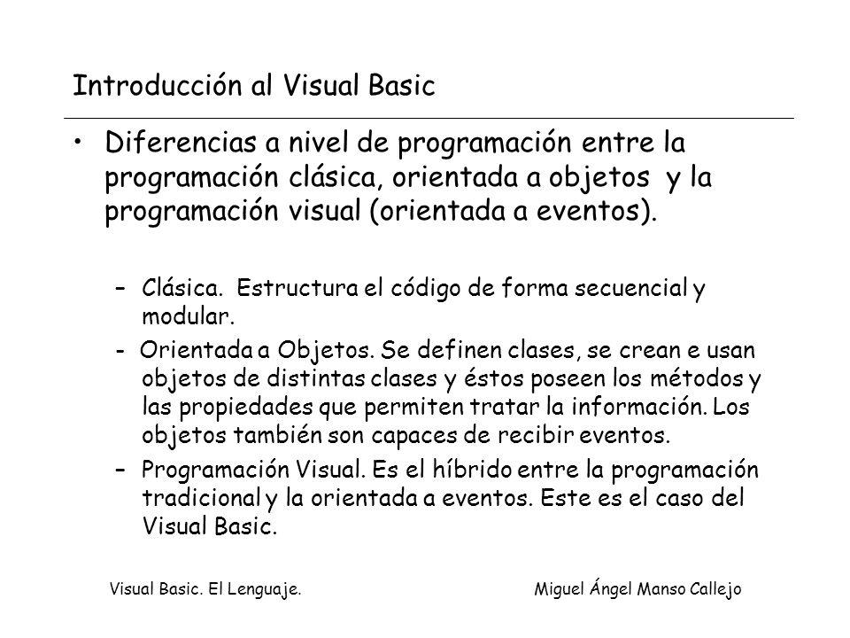 Introducción al Visual Basic