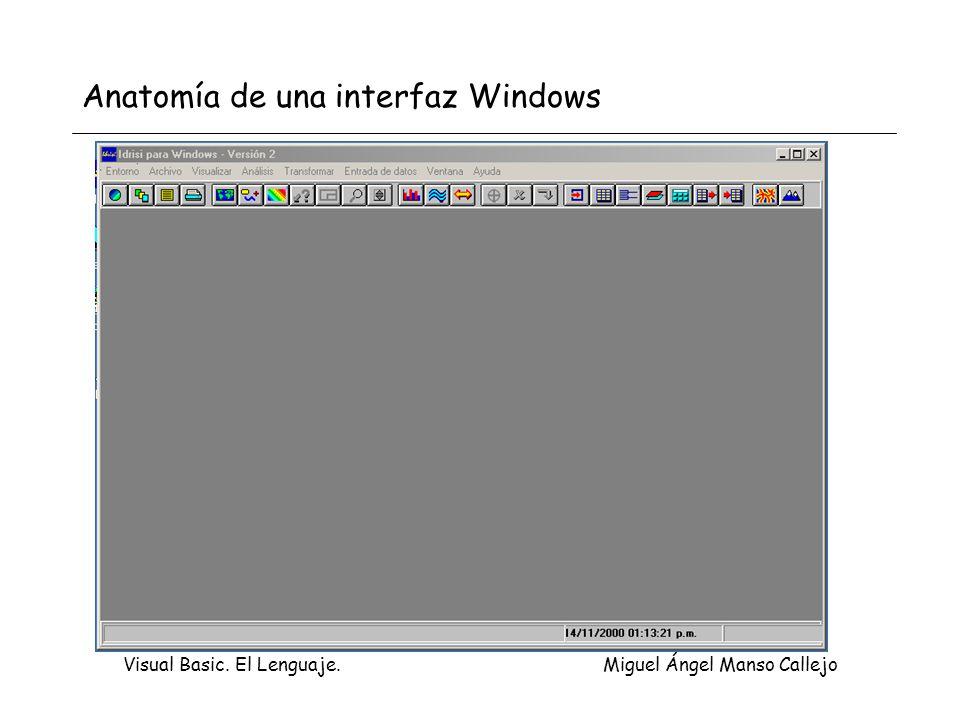 Anatomía de una interfaz Windows