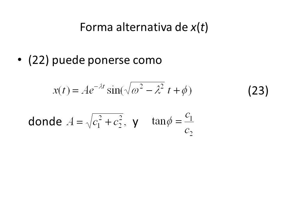 Forma alternativa de x(t)