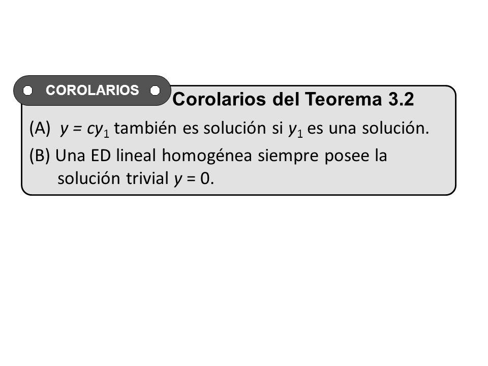 (A) y = cy1 también es solución si y1 es una solución.
