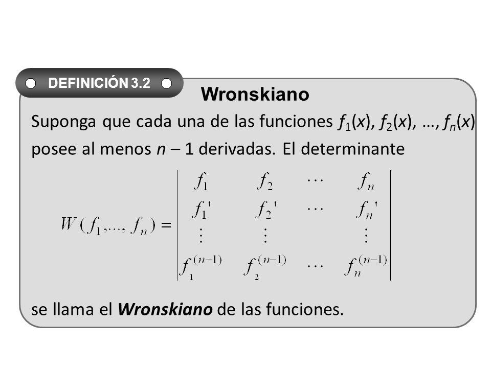 Suponga que cada una de las funciones f1(x), f2(x), …, fn(x)