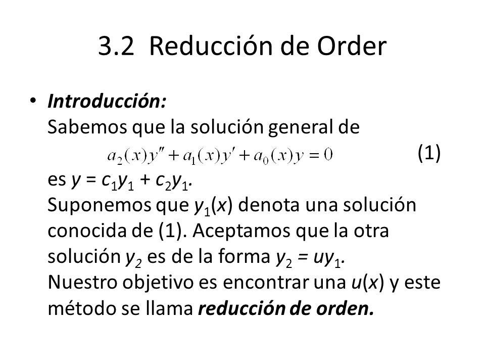 3.2 Reducción de Order