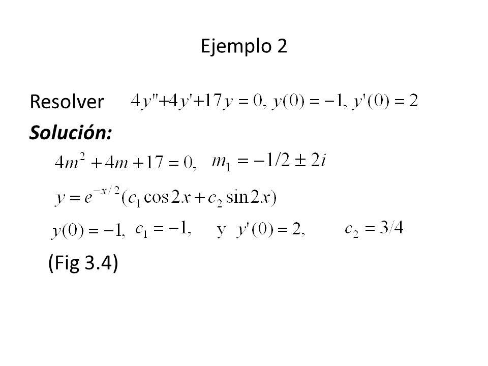 Ejemplo 2 Resolver Solución: (Fig 3.4)
