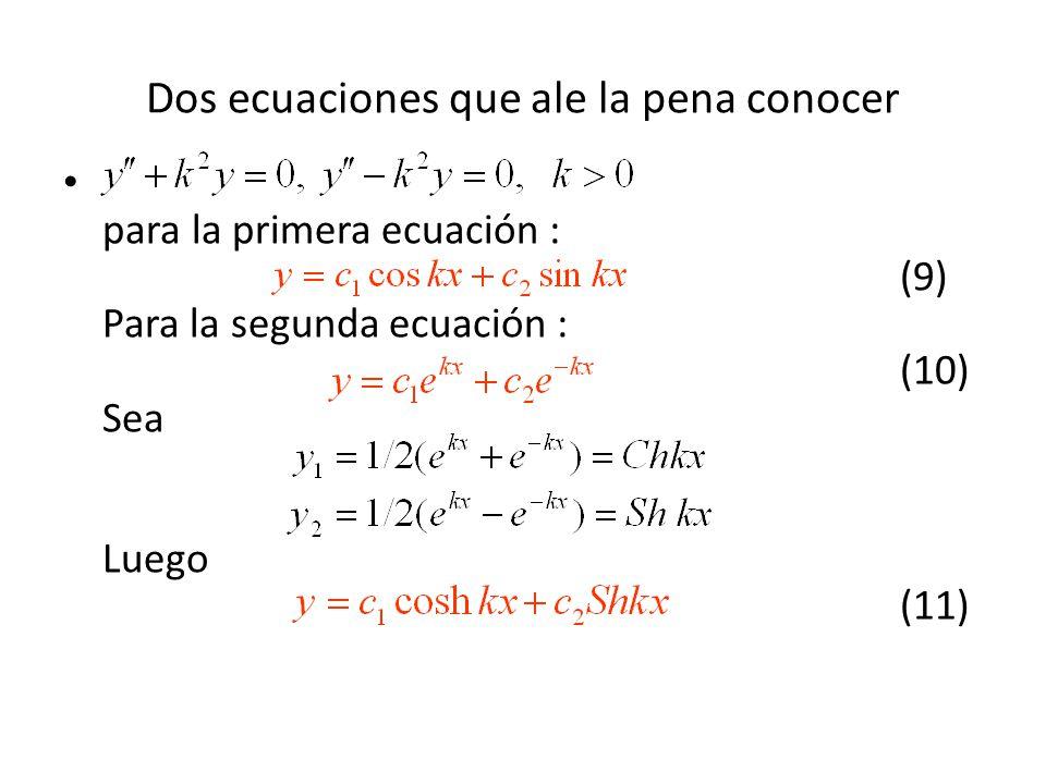 Dos ecuaciones que ale la pena conocer