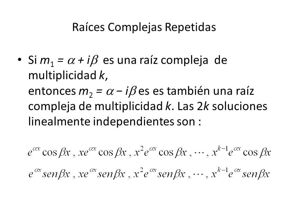 Raíces Complejas Repetidas