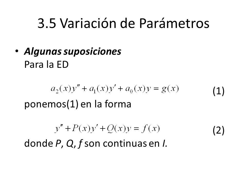 3.5 Variación de Parámetros