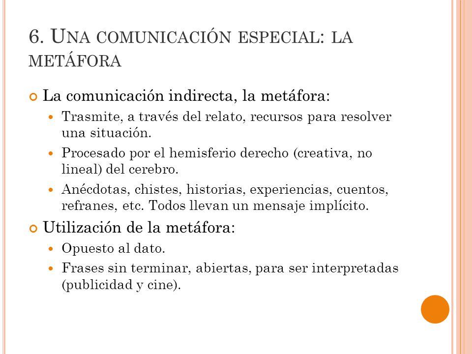 6. Una comunicación especial: la metáfora