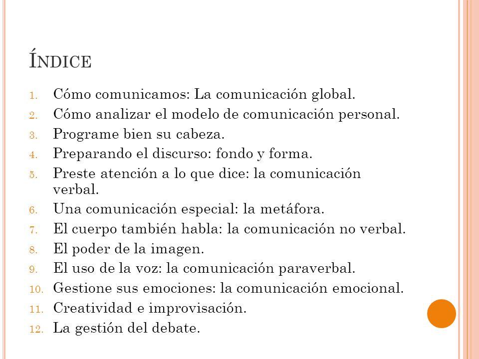 Índice Cómo comunicamos: La comunicación global.