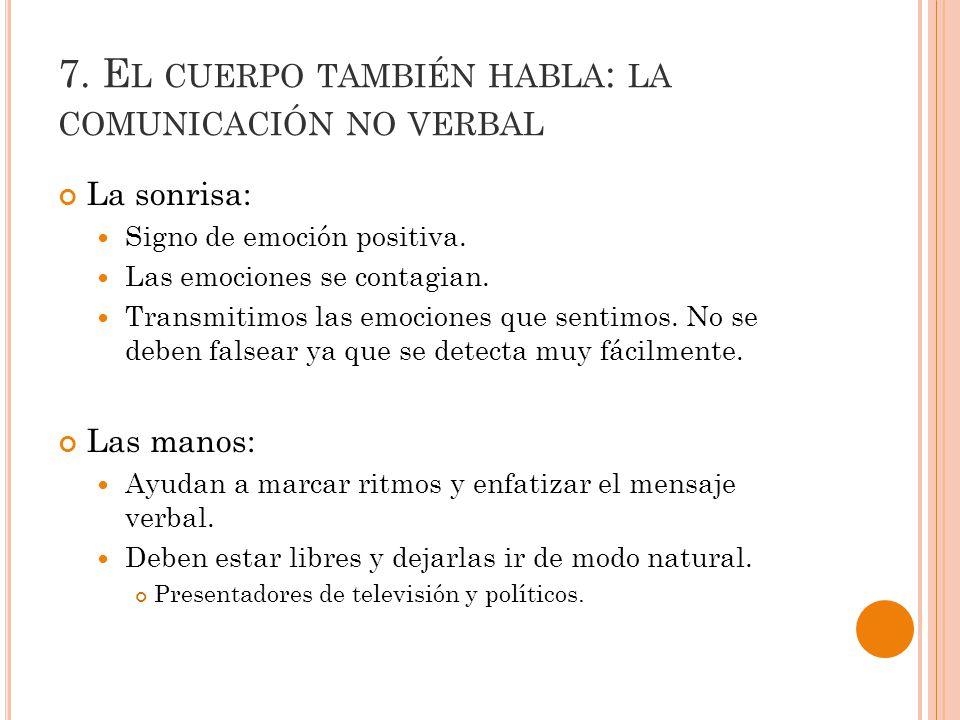 7. El cuerpo también habla: la comunicación no verbal