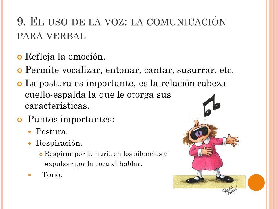 9. El uso de la voz: la comunicación para verbal