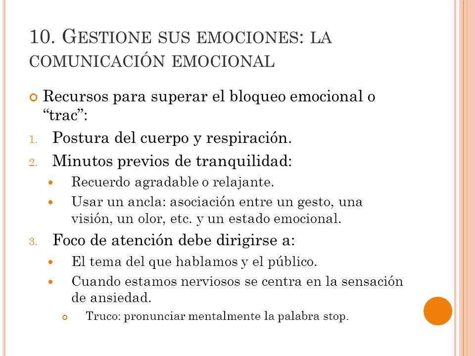10. Gestione sus emociones: la comunicación emocional