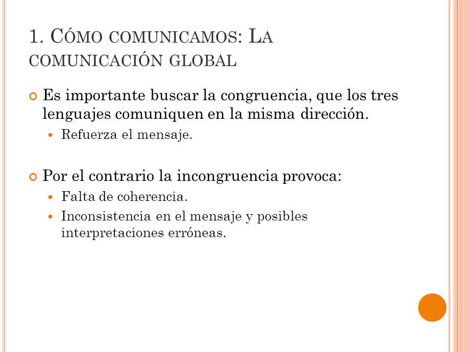 1. Cómo comunicamos: La comunicación global