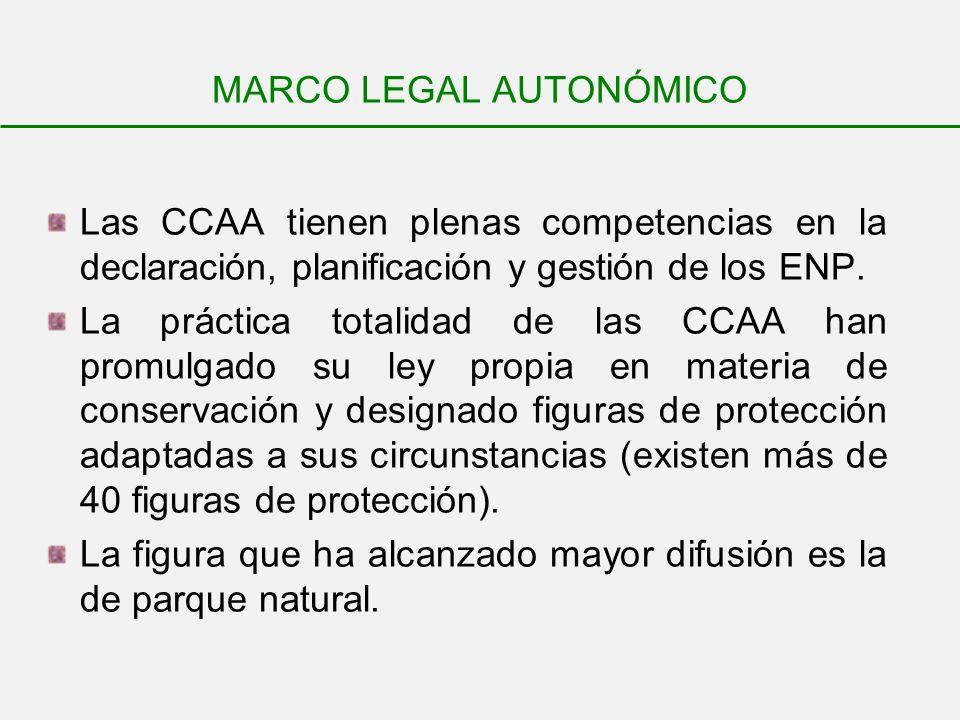 MARCO LEGAL AUTONÓMICO