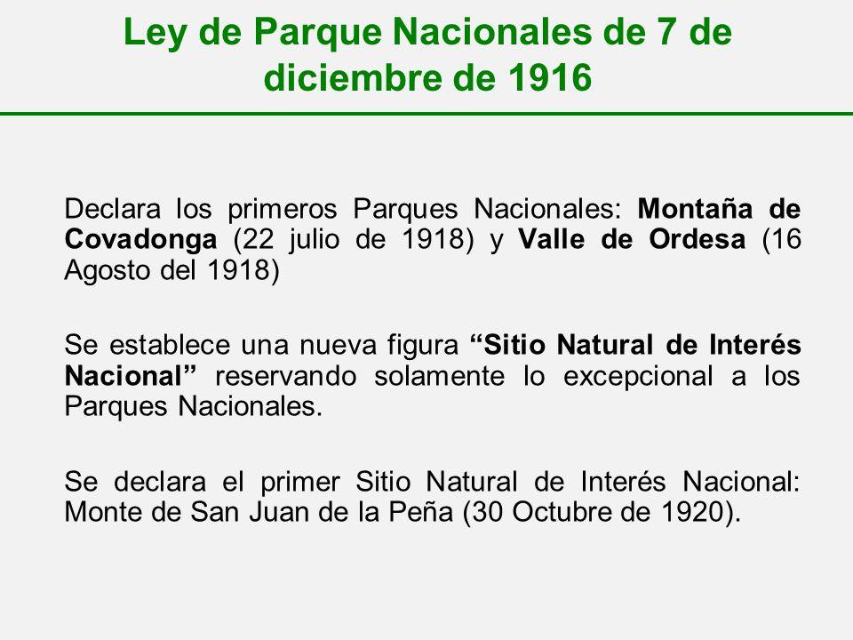 Ley de Parque Nacionales de 7 de diciembre de 1916