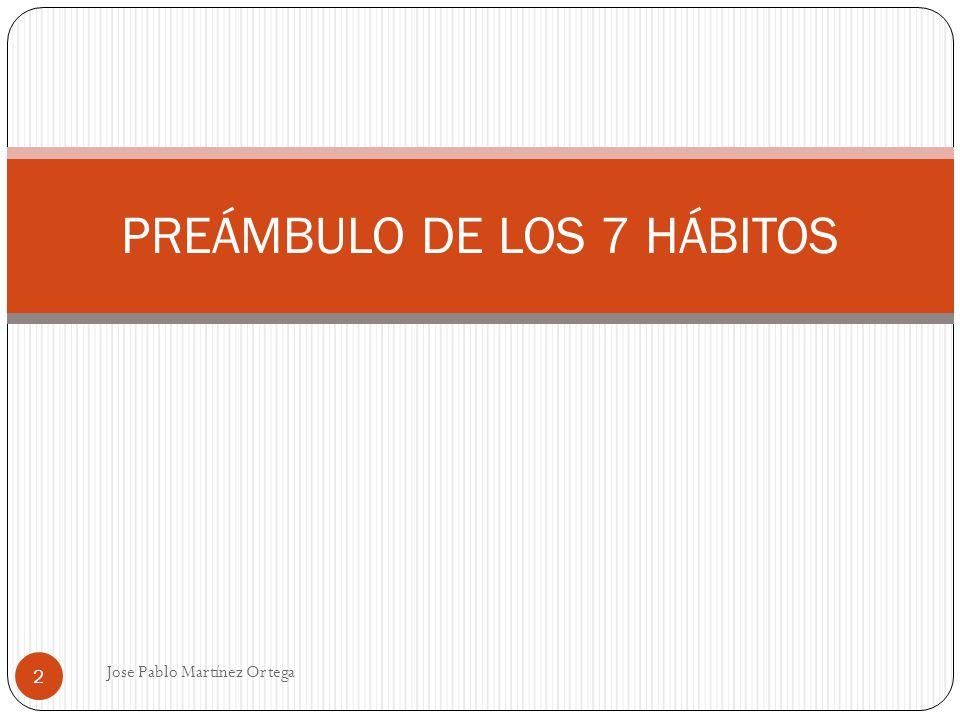 PREÁMBULO DE LOS 7 HÁBITOS