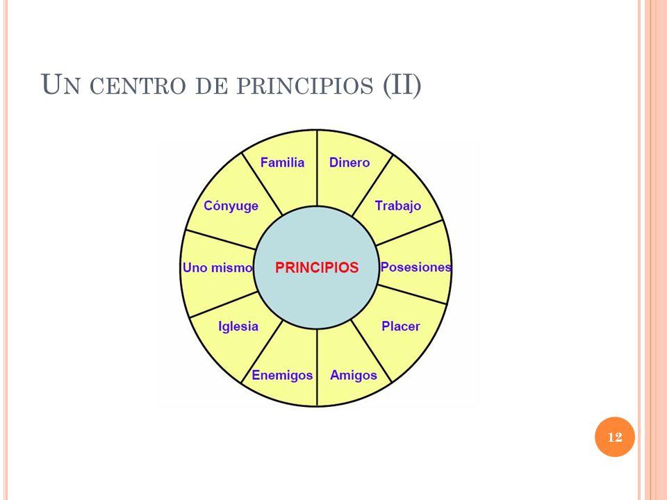Un centro de principios (II)