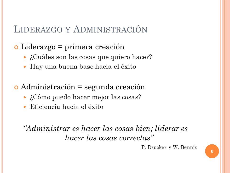 Liderazgo y Administración
