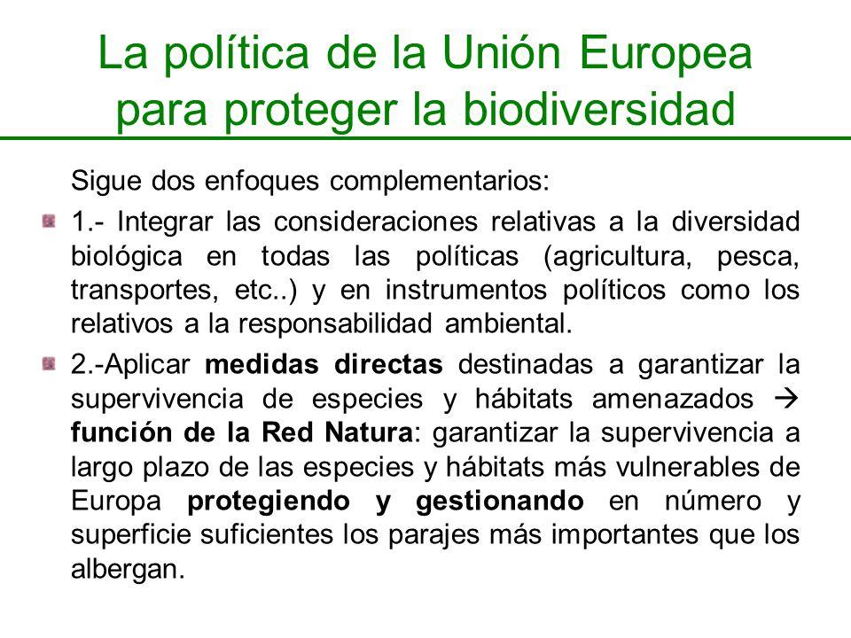 La política de la Unión Europea para proteger la biodiversidad