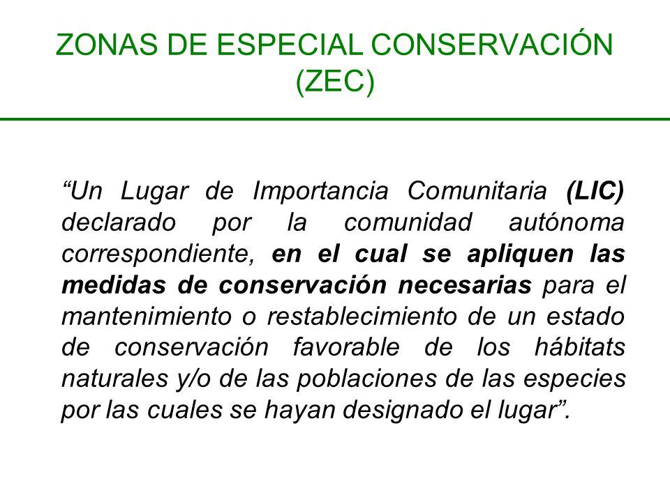 ZONAS DE ESPECIAL CONSERVACIÓN (ZEC)