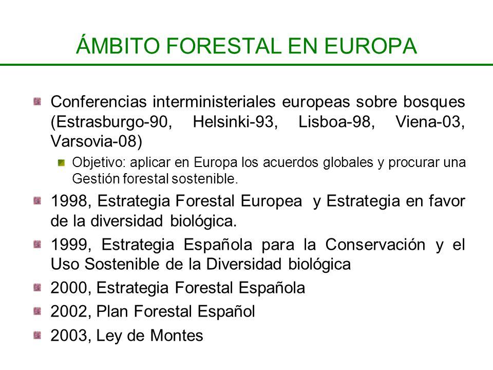 ÁMBITO FORESTAL EN EUROPA