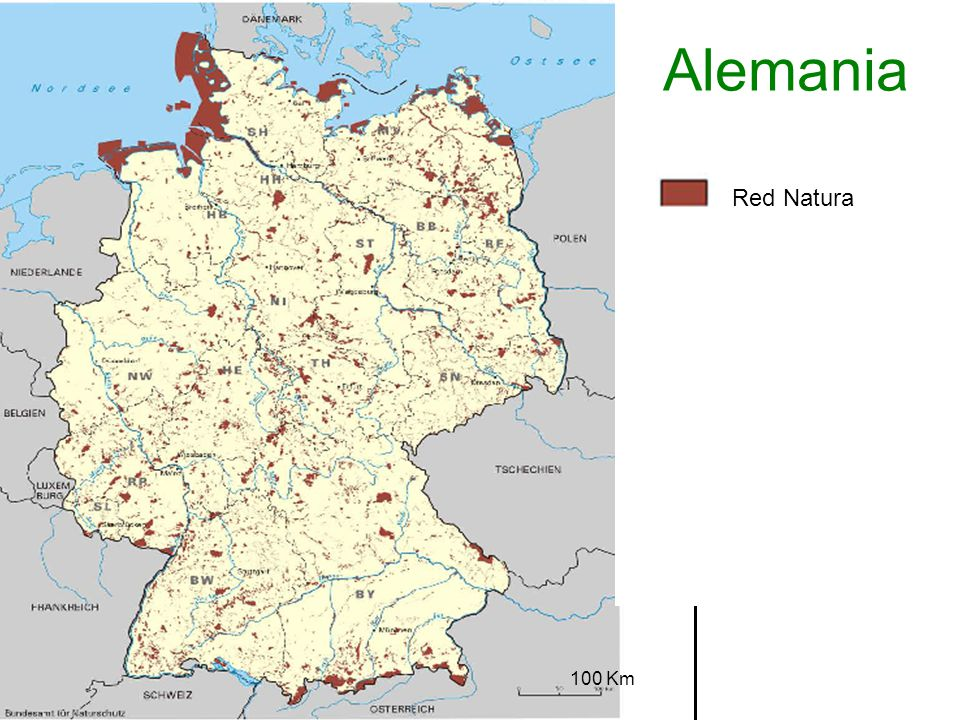 Alemania Red Natura 100 Km