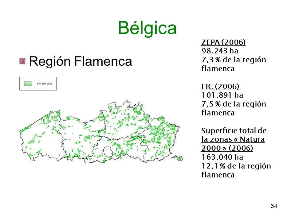 Bélgica Región Flamenca ZEPA (2006) 98.243 ha