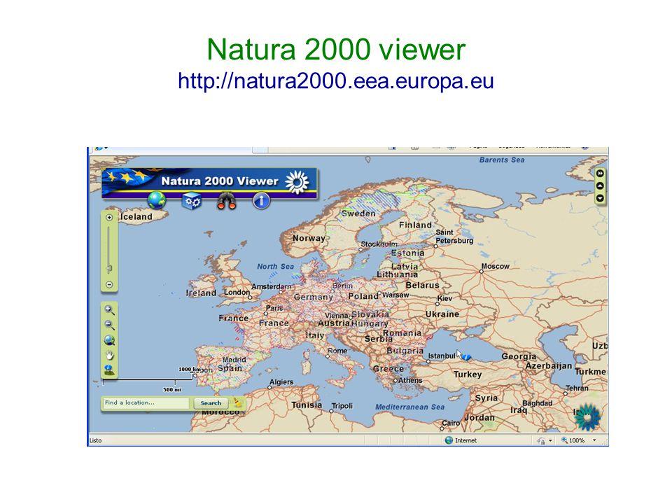 Natura 2000 viewer http://natura2000.eea.europa.eu