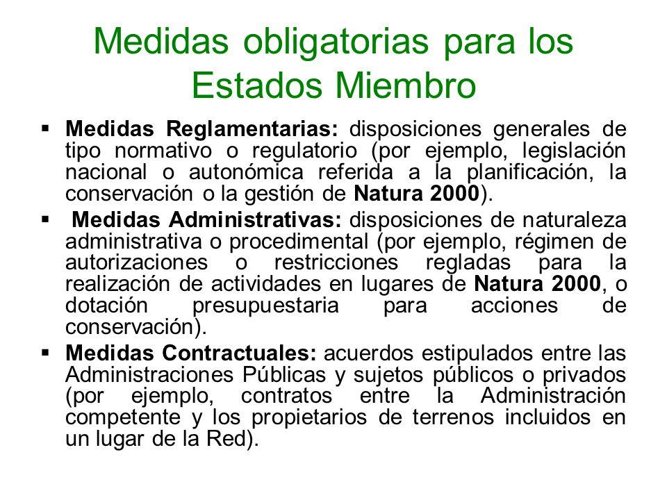 Medidas obligatorias para los Estados Miembro