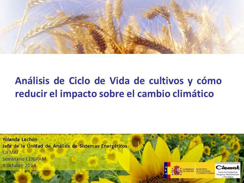 Análisis de Ciclo de Vida de cultivos y cómo reducir el impacto sobre el cambio climático