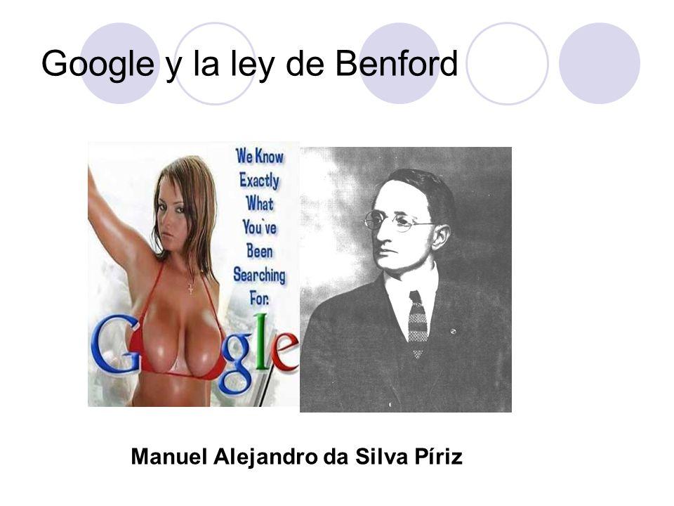 Google y la ley de Benford