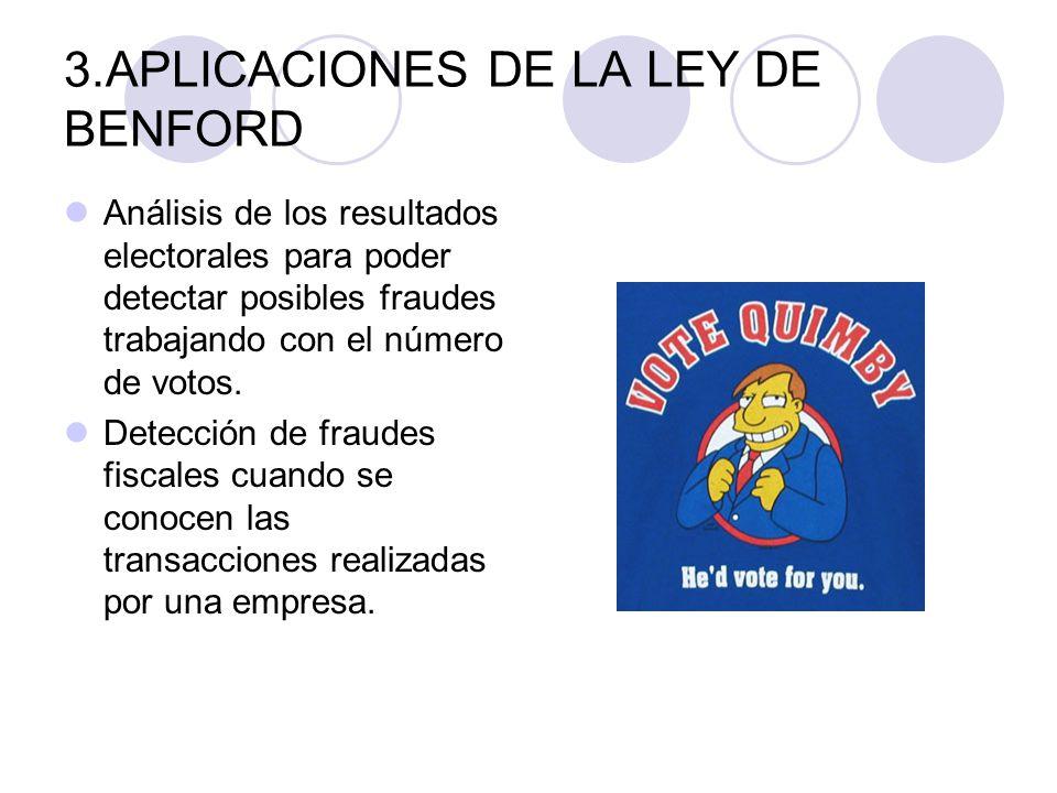 3.APLICACIONES DE LA LEY DE BENFORD