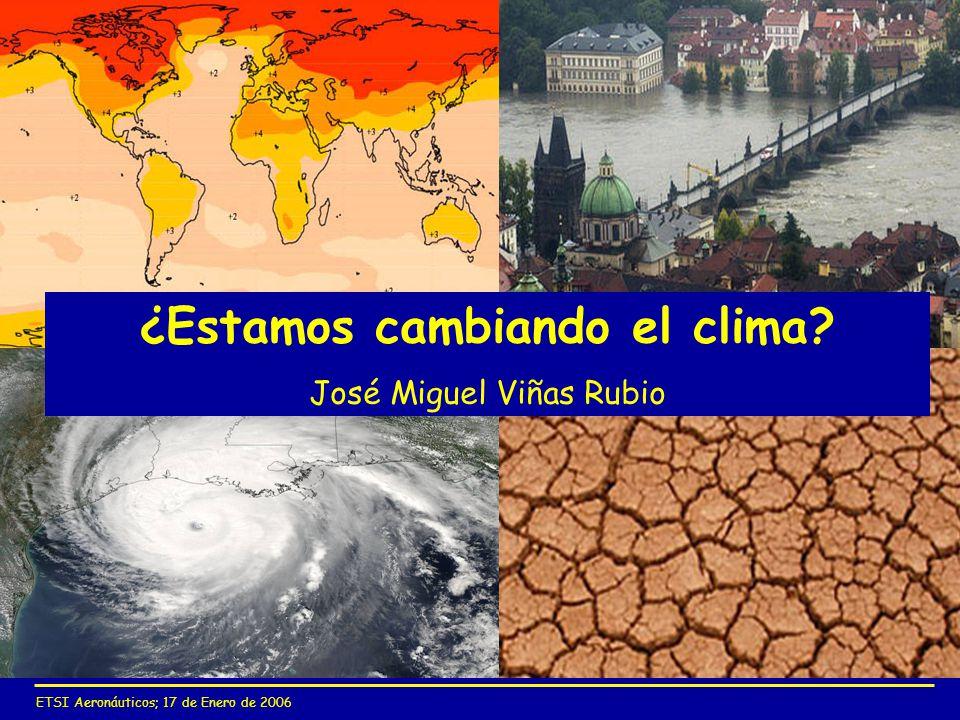 ¿Estamos cambiando el clima