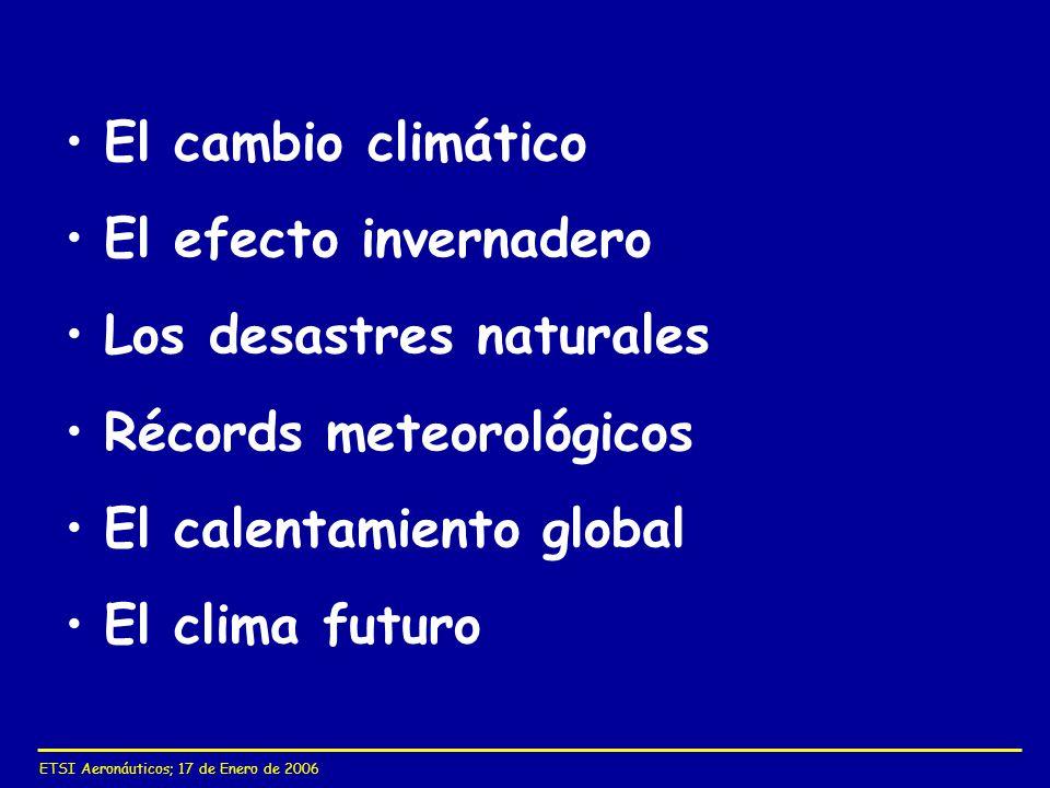 Los desastres naturales Récords meteorológicos El calentamiento global