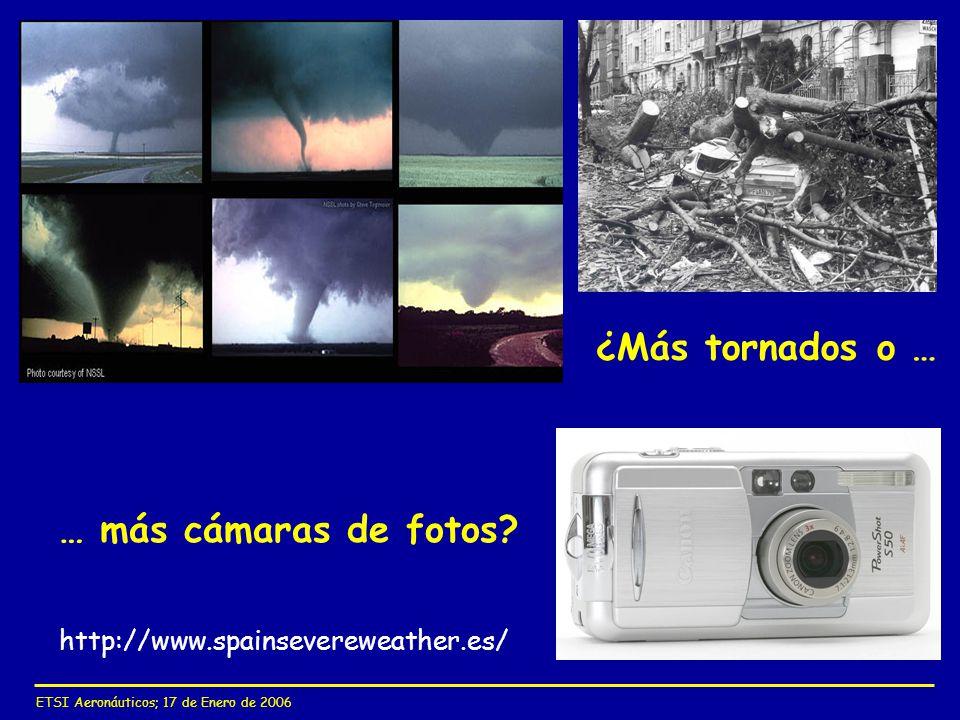¿Más tornados o … … más cámaras de fotos
