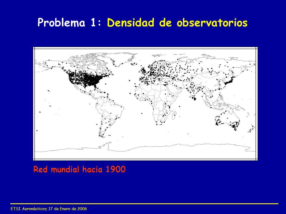 Problema 1: Densidad de observatorios