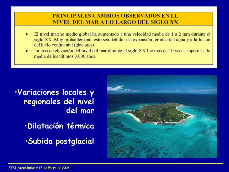 Variaciones locales y regionales del nivel del mar