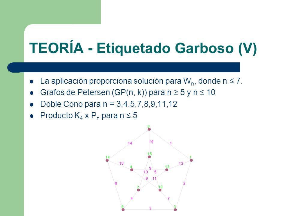 TEORÍA - Etiquetado Garboso (V)