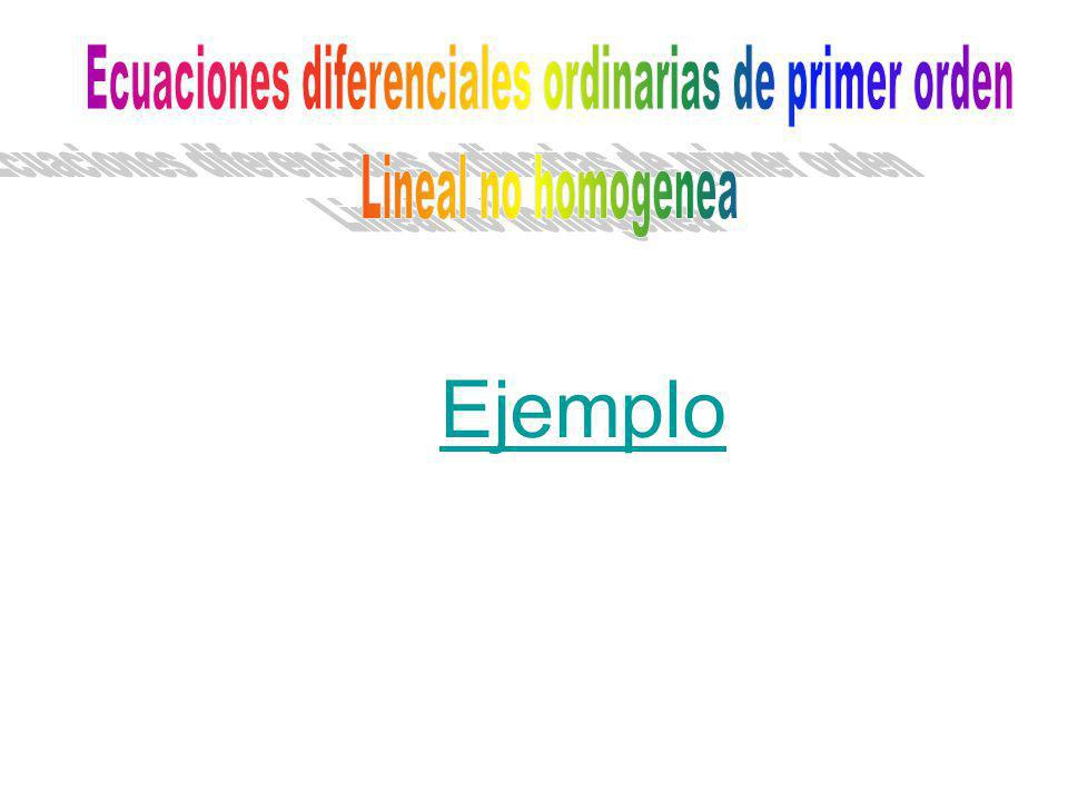 Ecuaciones diferenciales ordinarias de primer orden