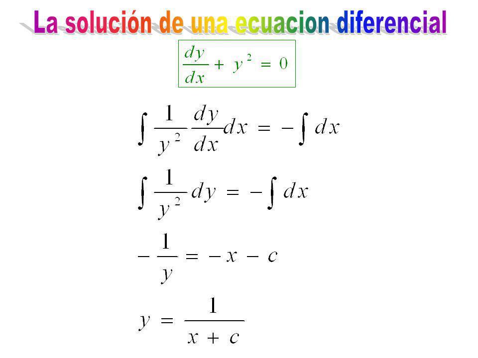La solución de una ecuacion diferencial