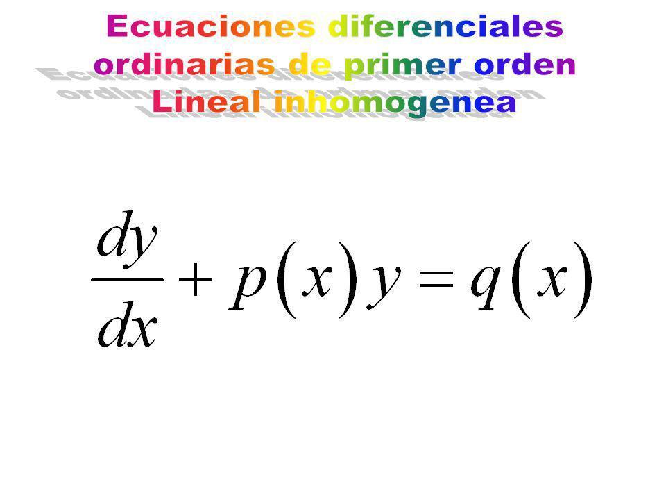 Ecuaciones diferenciales ordinarias de primer orden Lineal inhomogenea