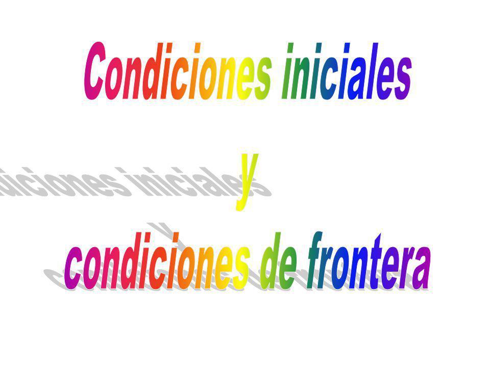 Condiciones iniciales y condiciones de frontera