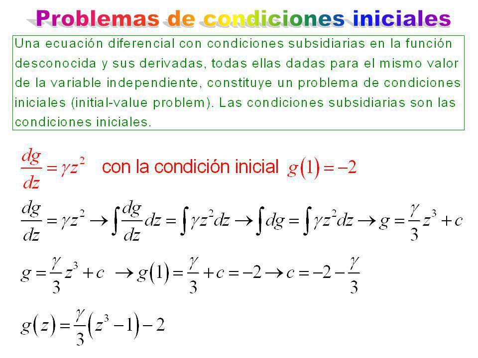 Problemas de condiciones iniciales