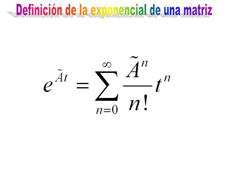 Definición de la exponencial de una matriz
