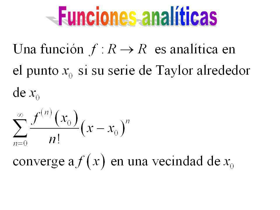 Funciones analíticas