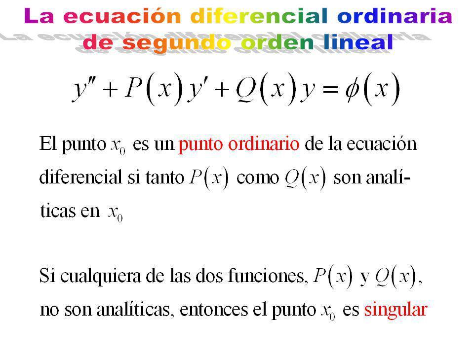 La ecuación diferencial ordinaria de segundo orden lineal