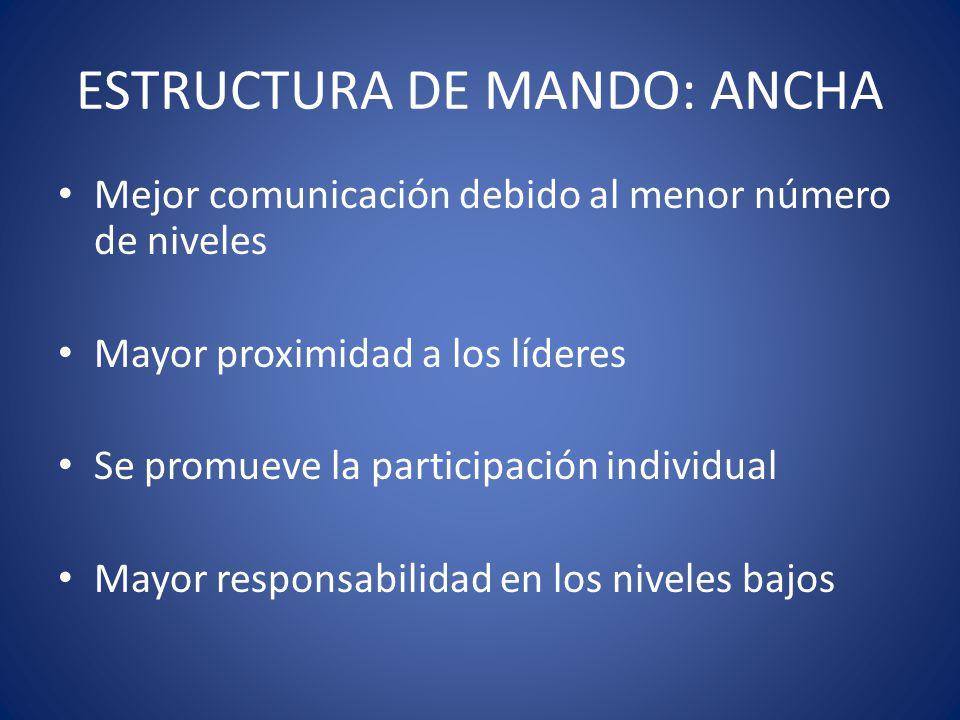 ESTRUCTURA DE MANDO: ANCHA