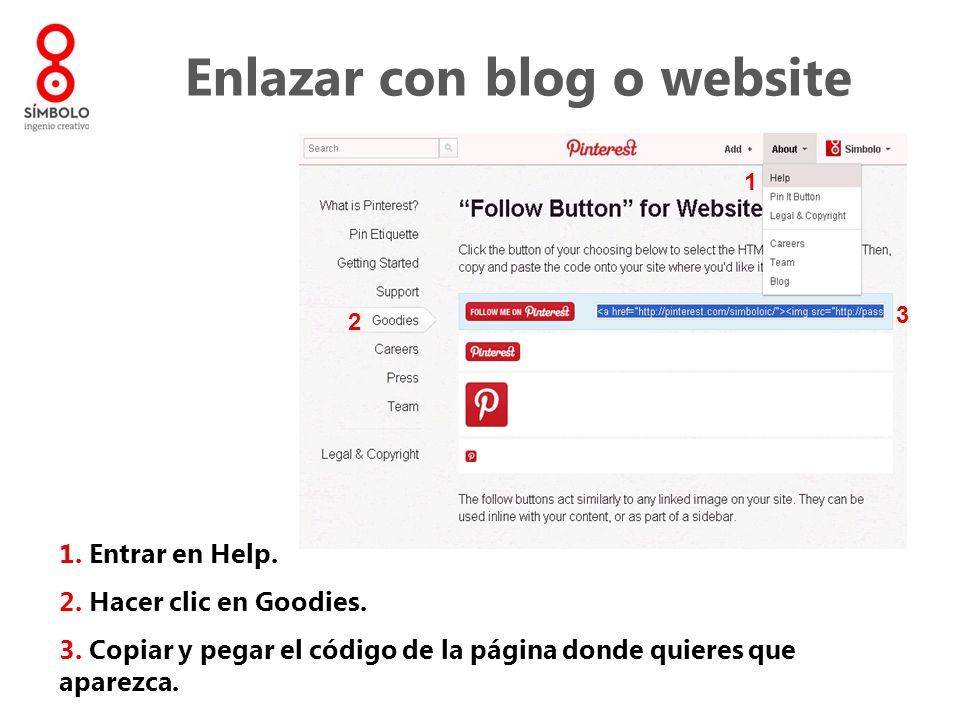Enlazar con blog o website